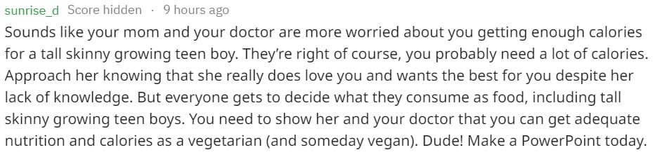 A boy was terrified about telling his mum he's turning vegan, and the support he received is inspiring