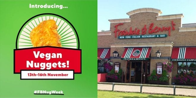 Frankie And Benny's Offers Unlimited Vegan Nuggets For Just £5.99