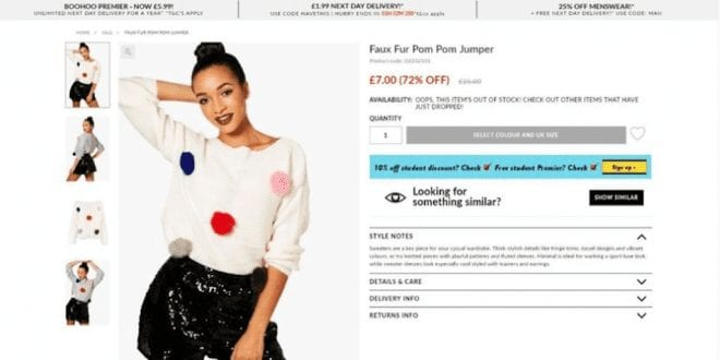 Retailer Boohoo Exposed For Advertising Animal Products As 'Faux Fur'