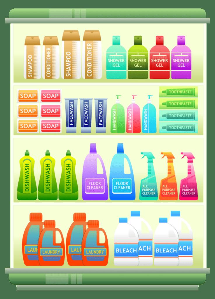 Toiletries containing palm oil