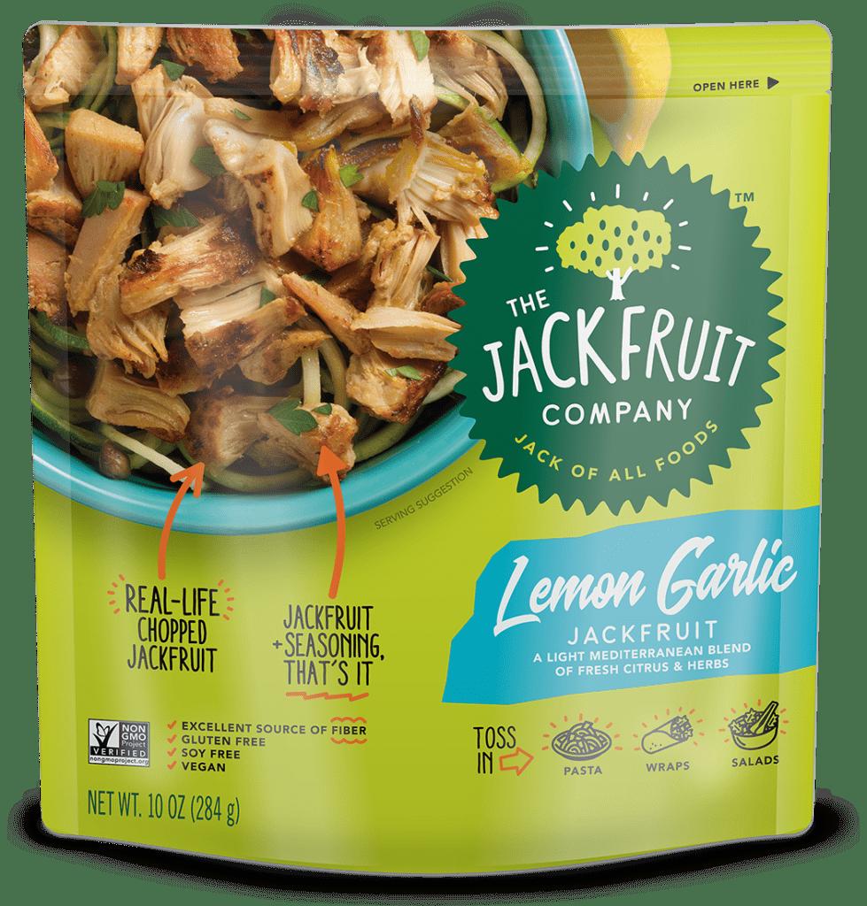Lemon garlic jackfruit from The Jackfruit Company
