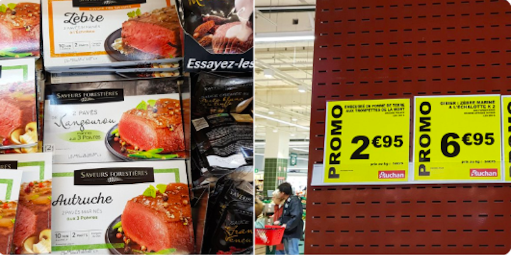 'Endangered' Zebra Meat selling in french supermarket