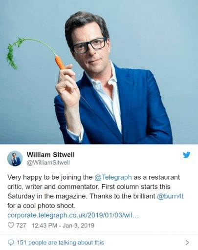 Former Waitrose food editor who suggested 'Killing Vegans' hired by the daily Telegraph