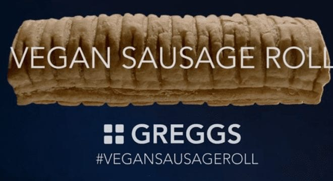 Vegan sausage rolls by Greggs