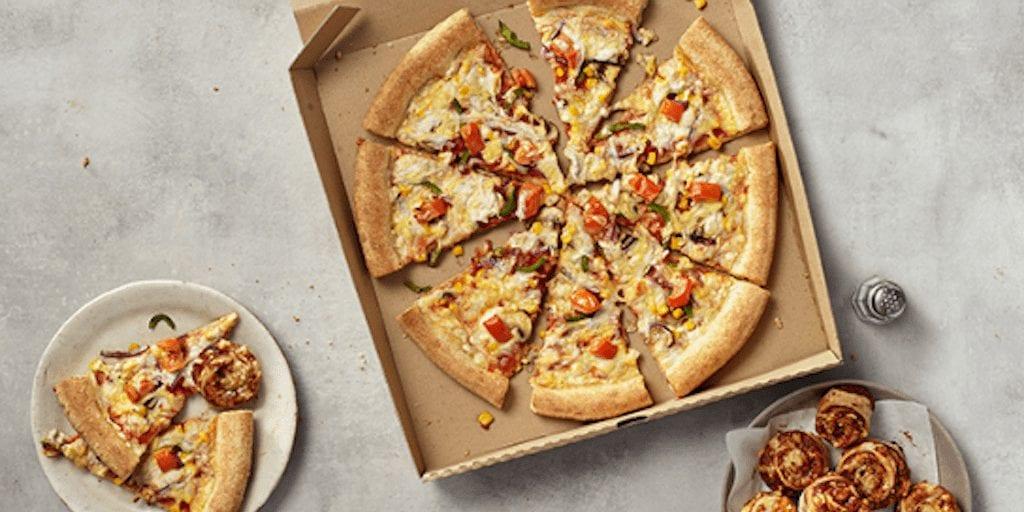 Papa John's vegan pizza Review