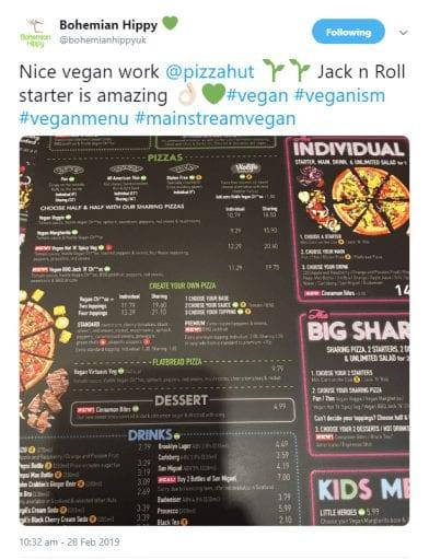Pizza Hut Launches Full UK Vegan Menu, America Asks 'Where's Our Fuckinging Vegan Pizza'1
