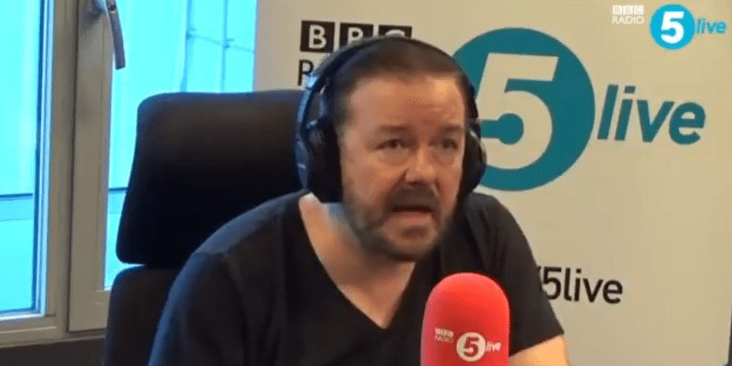 Ricky Gervais launches into explosive anti-animal testing rant On live radio