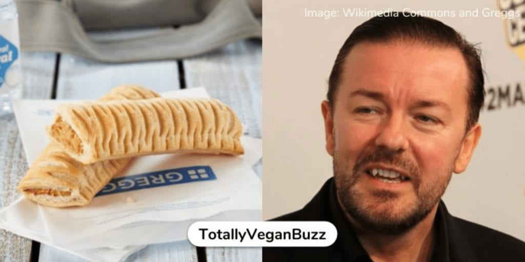 Ricky Gervais Mocks 'Mental' Reaction To Greggs Vegan Sausage Roll-There's No Anus In This