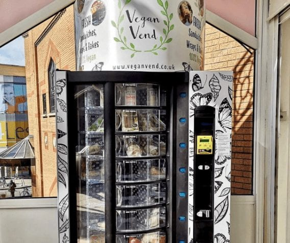 Vegan vending machines filled with healthy snacks, chocolate, crisps and sandwiches are now a thing
