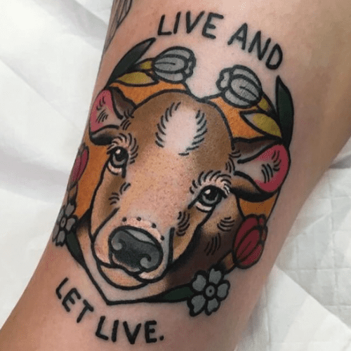 Vegan and animal rights inspired tattoos