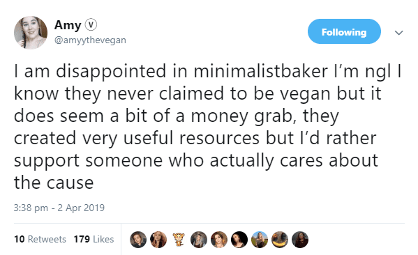 Leading vegan blogger 'Minimalist Baker' will now use meat and eggs, and people are furious
