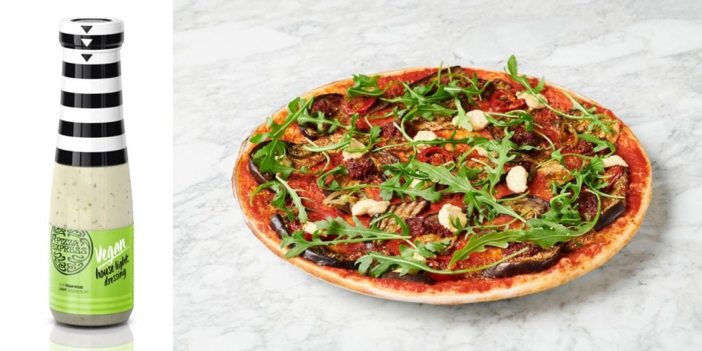 PizzaExpress has launched a vegan version of its famous house dressing to accompany a new vegan range