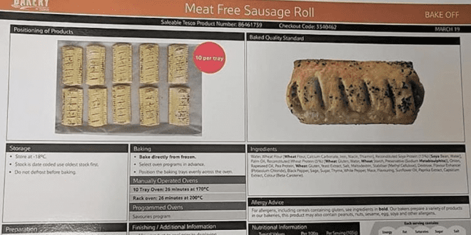The Greggs Effect- Tesco To Launch On-The-Go Vegan Sausage Roll