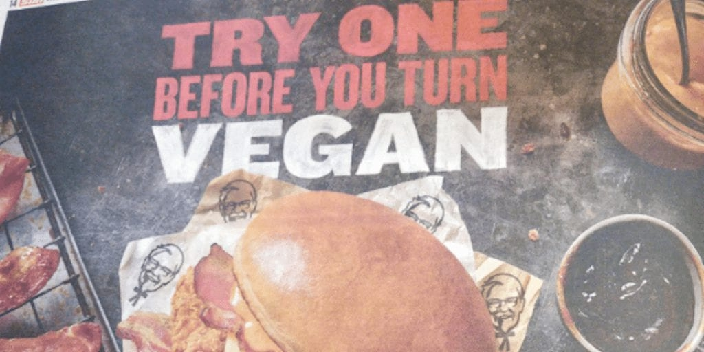 KFC Admits Meat Sales Are Doomed To Decline In Bizarre Bacon Burger Ad Campaign