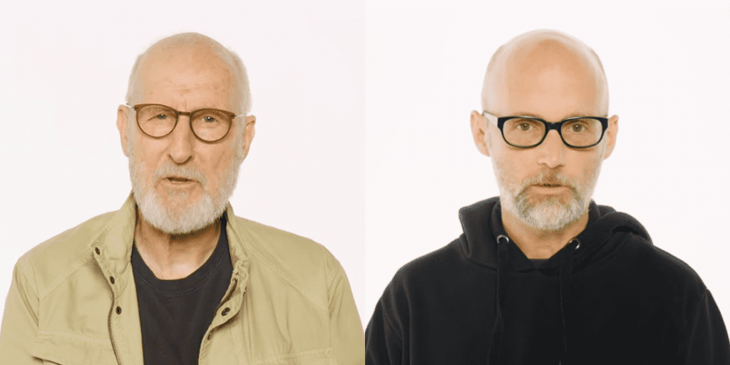 Moby and James Cromwell talking against meat eating
