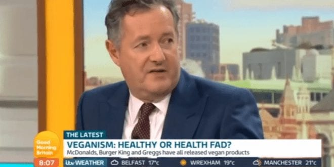 Piers Morgan Says 'Hypocrite' Vegans Are Responsible For 'Slaughtering Insects' In Debate With PETA Director