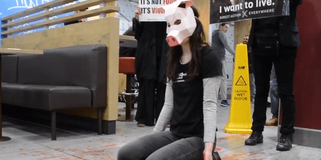Vegan activist arrested