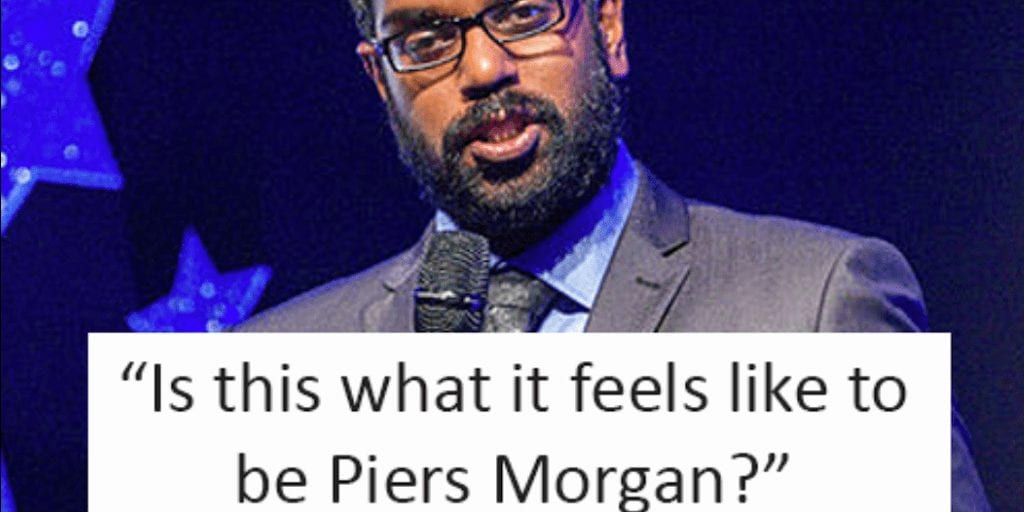 Vegan comedian Romesh Ranganthan's brilliant reaction to trolls after 'vegans are better' video