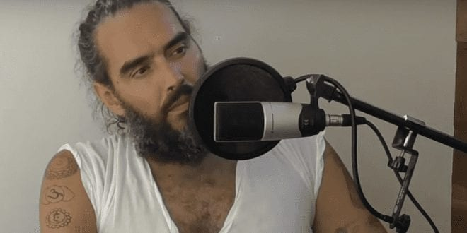 WATCH- Russell Brand says vegans simply 'don't want blood on their hands' in new podcast