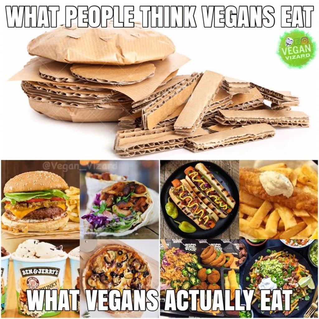 eat vegans actually vegan think meme memes buzz