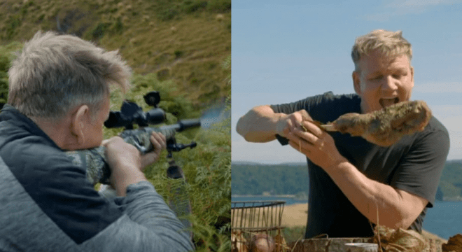 Gordon Ramsay slammed for shooting goat and eating it