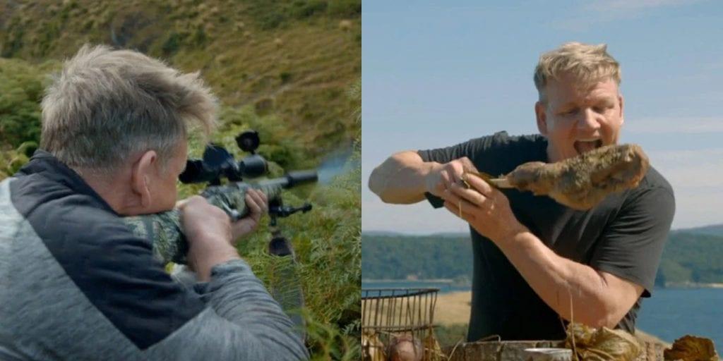 Gordon Ramsay slammed for shooting goat and eating it