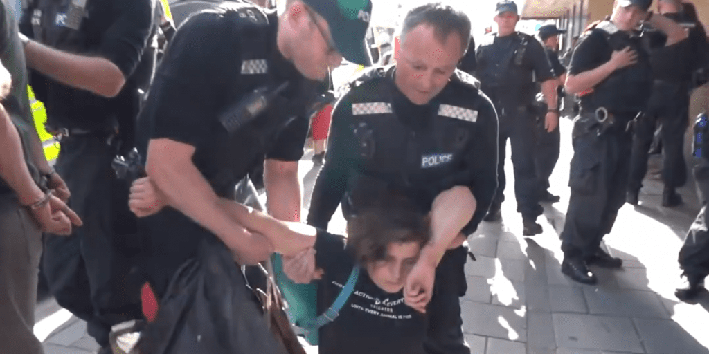 Watch- 9 vegan activists arrested at dramatic Waitrose protest