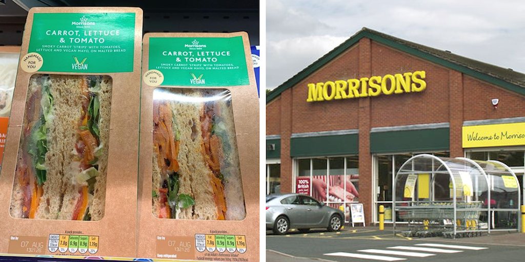 Vegans Angry With UK Supermarket for Replacing Bacon With Carrot in BLT Sandwiches