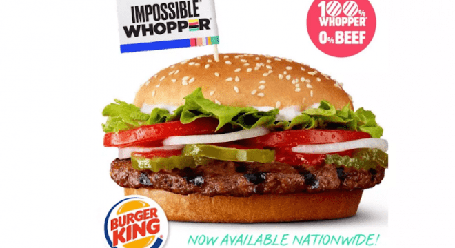 Burger King Impossible foods Impossible Whopper