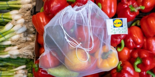 Lidl launches reusable fruit and veg bags
