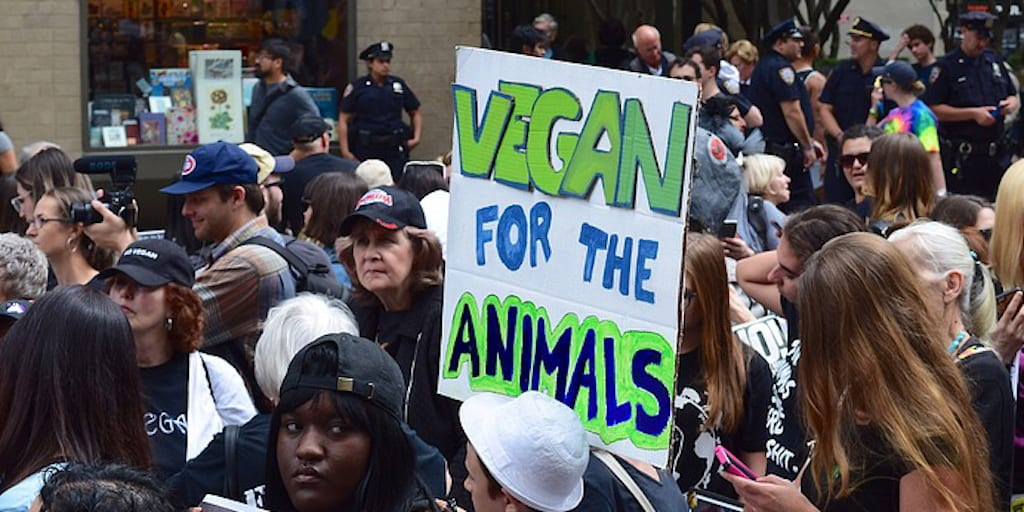 Record Turnout as over 12,000 activists attend the Animal Rights March in London.