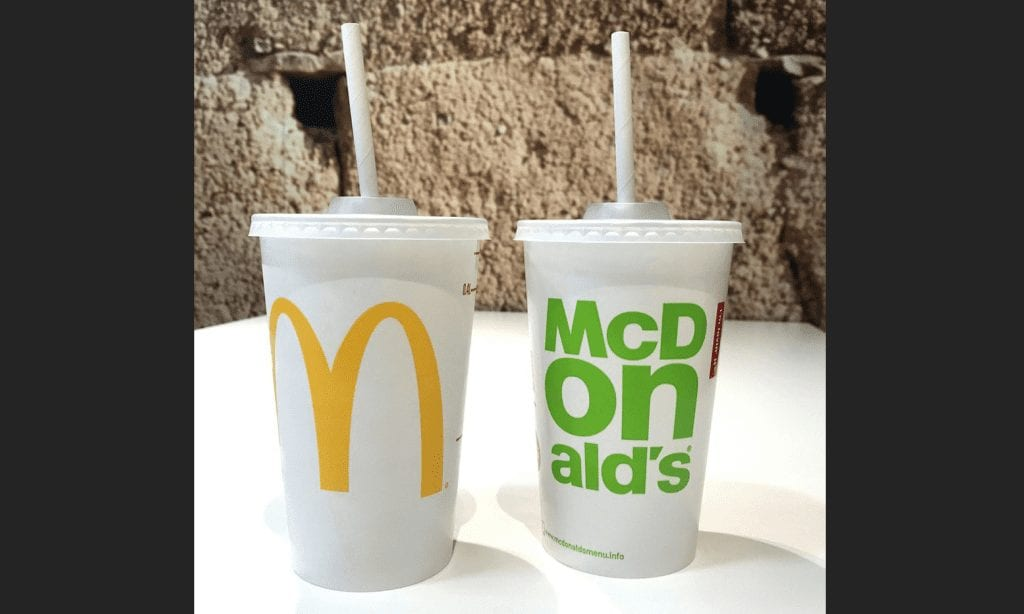 McDonald's container and paper straw