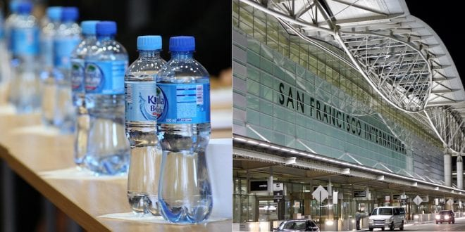 San Francisco airport is banning plastic water bottles today