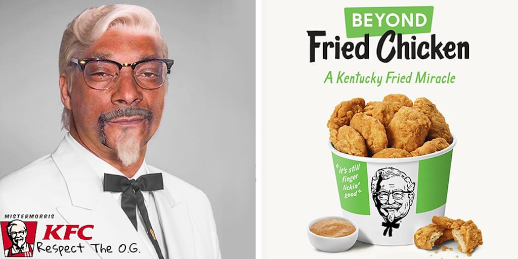 Snoop Dog is loving KFC's 'Finger lickin' vegan chicken