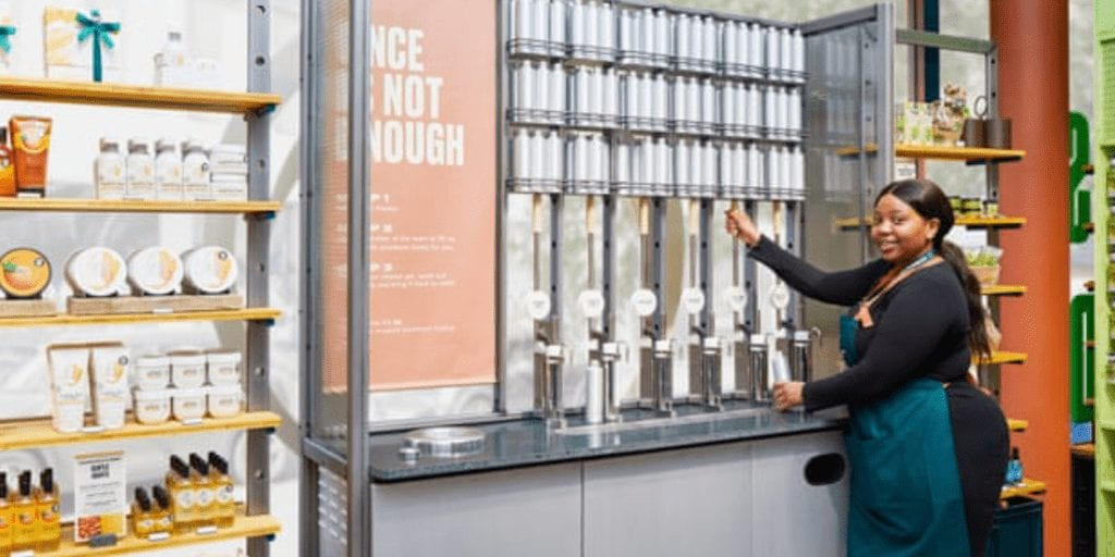 Body Shop adds refillable shower gel in bid to become greener
