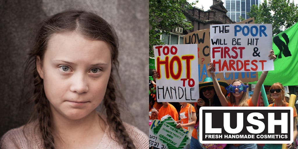 Lush closes 250 stores to protest climate change with Greta Thunberg