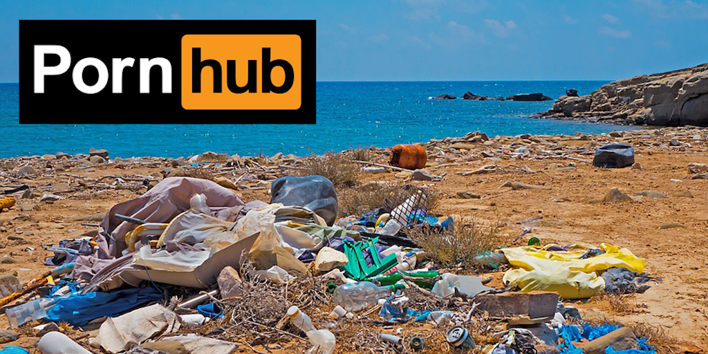 Pornhub couple have sex on world's dirtiest beach to fight plastic use