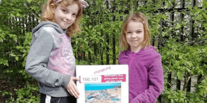 Schoolgirl's petition convinces McDonald's to swap plastic Happy Meal toys with fruit