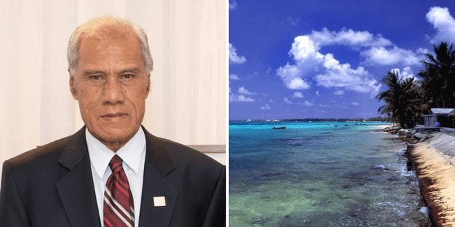 Tongan prime minister breaks down in tears at climate summit over rising sea level fears