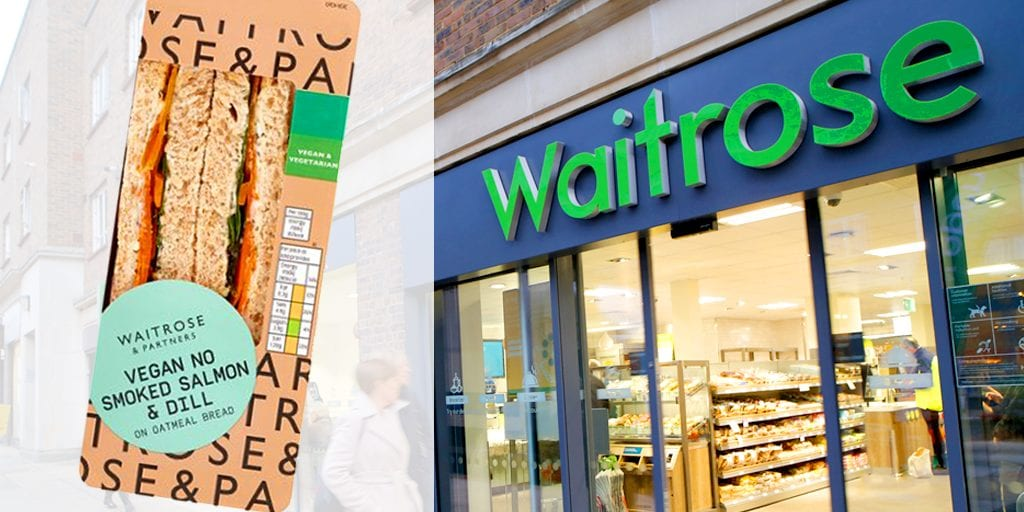 Vegan smoked salmon sandwich launched at Waitrose