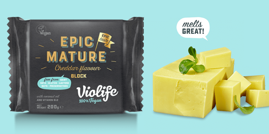 Violife to debut 'deliciously crumbly mature cheddar' in UK supermarkets