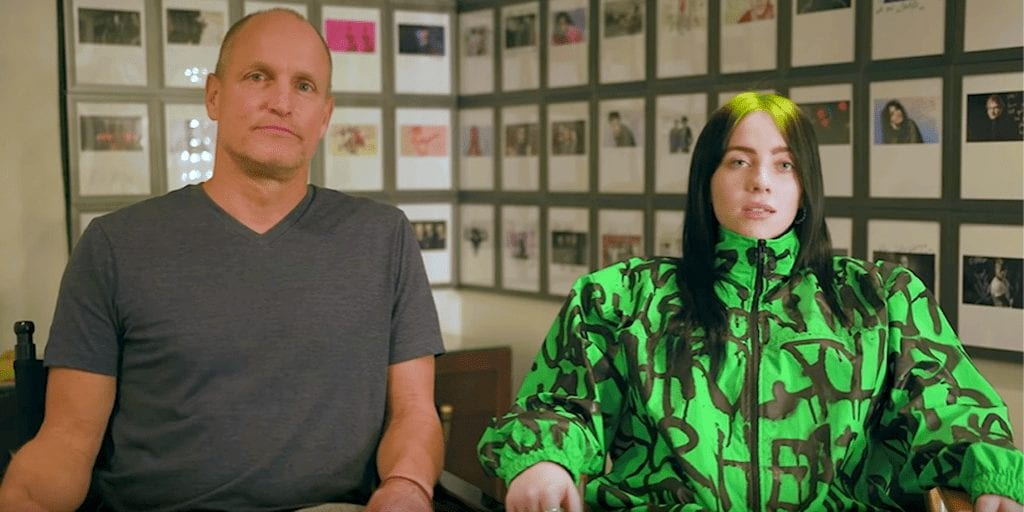 Billie Eilish and Woody Harrelson say everyone should go vegan to save the climate