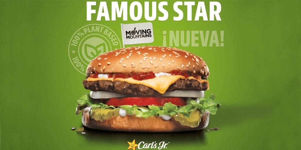 Carl's Jr. launches plant-based burgers in Spain