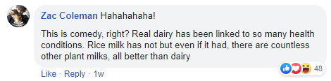 Dairy industry ad promoting cow's milk massively backfires as vegans get sassy
