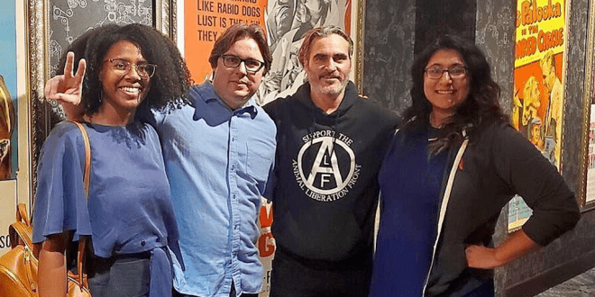 Joaquin Phoenix wears pro-vegan jumper at Joker premiere