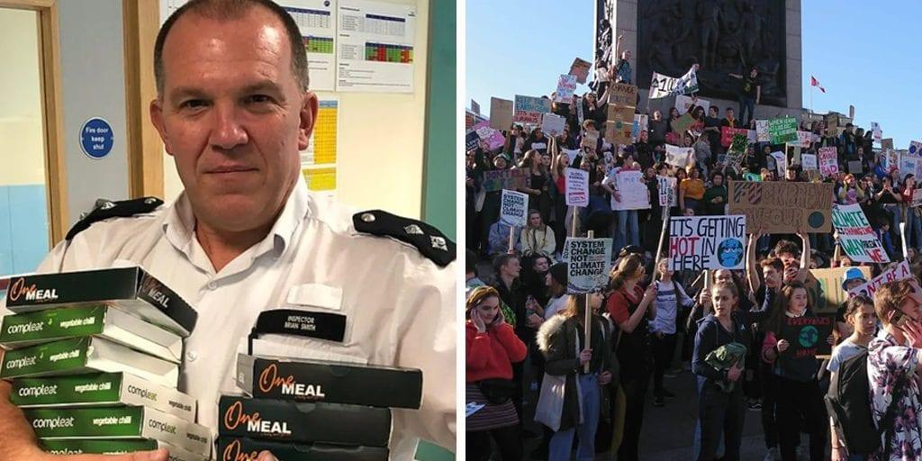 London police order hundreds of vegan meals for arrested Extinction Rebellion protesters