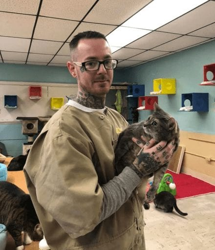 Rescue cats transform inmates' lives at prison in Indiana_TotallyVeganBuzz