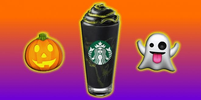 Starbucks launches vegan black whipped cream phantom frappuccinos for Halloween