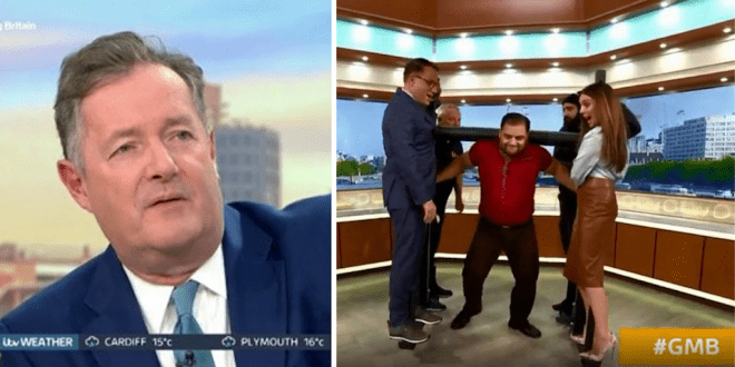 Vegan strongman convinces Piers Morgan to watch vegan documentary The Game Changers