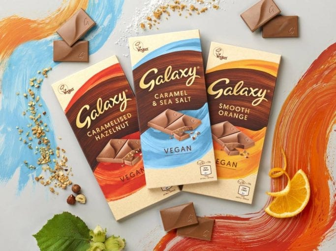 Mars launches Galaxy vegan chocolate bars in the UK